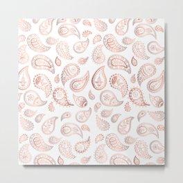 Rose gold paisley Metal Print