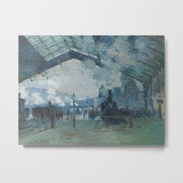 Claude Monet - Arrival of the Normandy Train Metal Print