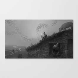 Sod House Canvas Print