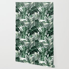 Tropical Jungle Leaves Pattern #4 #tropical #decor #art #society6 Wallpaper