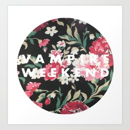 Vampire Weekend Floral logo Art Print