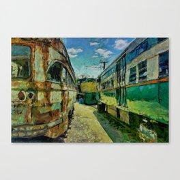 Trolley Graveyard Canvas Print