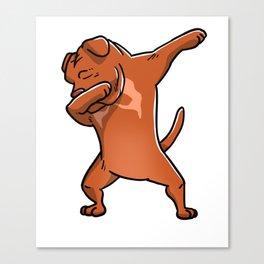 Dabbing Dogue De Bordeaux Dog Dab Dance Canvas Print