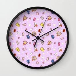 cardcaptor sakura cute pattern lilac Wall Clock