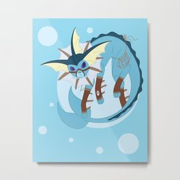 Water Steampunk Fox Metal Print
