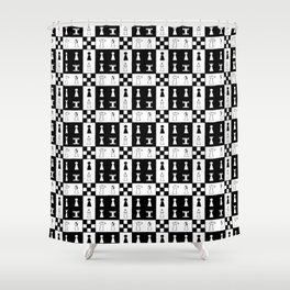Chess and chessboard Shower Curtain