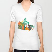 canada V-neck T-shirts featuring Canada by Mohit Gupta