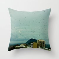brazil Throw Pillows featuring brazil by SUKI TAM