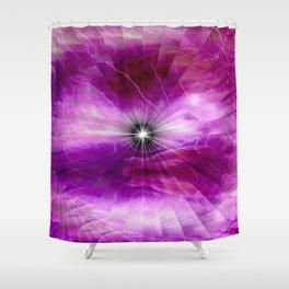 Fractal Soft Glow Shower Curtain