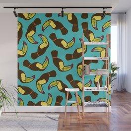 Toucan Pattern Wall Mural