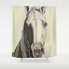 Farm Animal Art, Horse Art Shower Curtain