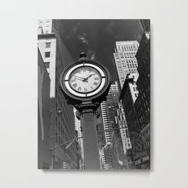 Seth Thomas Clock Fifth Avenue Metal Print