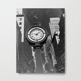 Seth Thomas Clock Fifth Avenue Metal Print