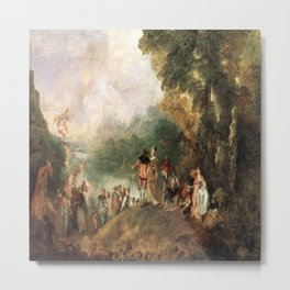 Antoine Watteau's The Embarkation for Cythera Metal Print