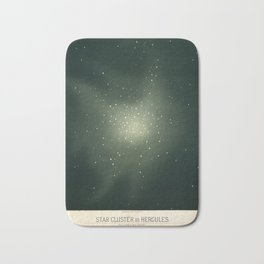 Star clusters in Hercules by Étienne Léopold Trouvelot (1877) Bath Mat