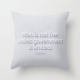 President Ronald Reagan Quote Throw Pillow