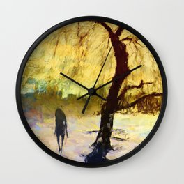 Walk Under the Willow Wall Clock