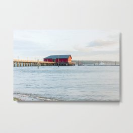 Coupeville Pier Sunrise Metal Print