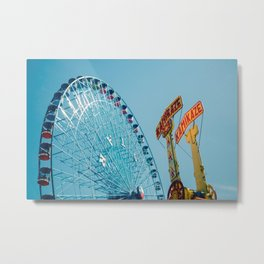 Texas Star & Kamikaze, State Fair Rides Metal Print