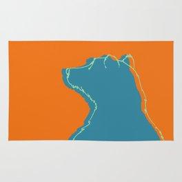 Bear goes wild - orange Rug