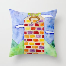 Humpty Dumpty - Before The Fall Throw Pillow