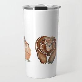 Canadian Crew   Woodland Animals Nursery Art Travel Mug