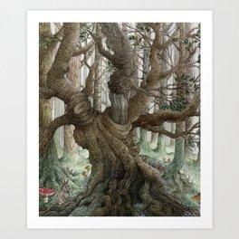 Sprite Tree Art Print