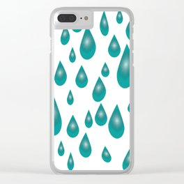 RainDrops Clear iPhone Case