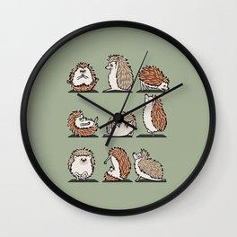 Hedgehog Yoga Wall Clock