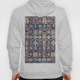 Royal Blue Western Star 19th Century Authentic Colorful Dusty Blue Yellow Vintage Patterns Hoody