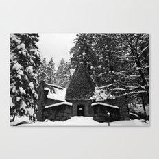 Snow Building in Snow Canvas Print