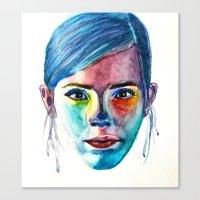 emma watson Canvas Prints featuring Emma Watson by Stella Joy