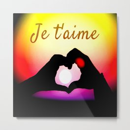 Je t´aime in pop-art Metal Print
