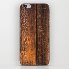 Old wood texture iPhone Skin