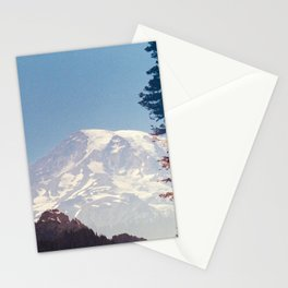 Mount Rainier Sunset Double Exposure on 120 mm film Stationery Cards