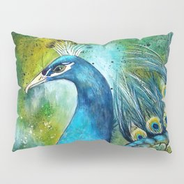 """A Peacock in its Natural Environment"" Pillow Sham"