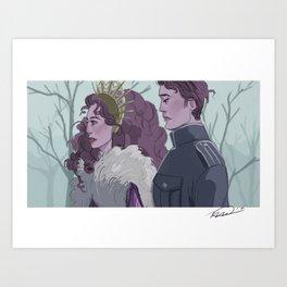 Queen and Consort Art Print