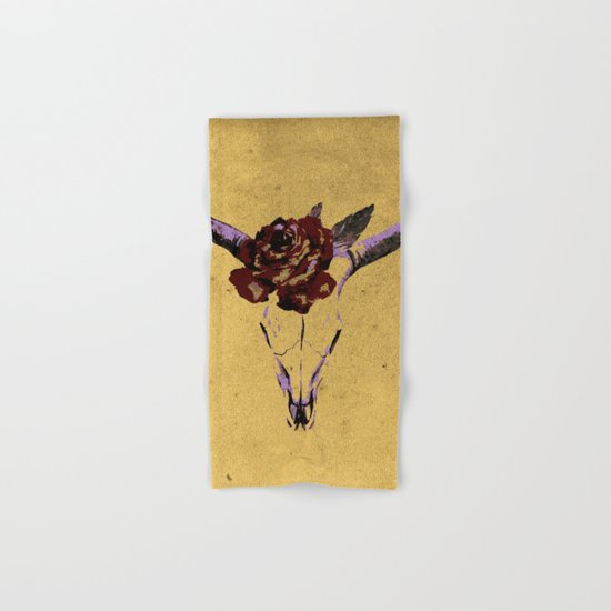 Grunge Animal Skull Hand & Bath Towel