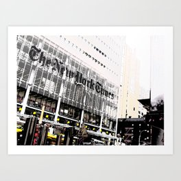 New York Times building shot via 8th Ave  - 620 8th Avenue, New York, NY Art Print
