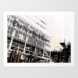 New York Times building shot via 8th Ave  - 620 8th Avenue, New York, NY Art Print
