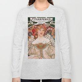 "Alfons Mucha, "" F.Champenois "" Long Sleeve T-shirt"