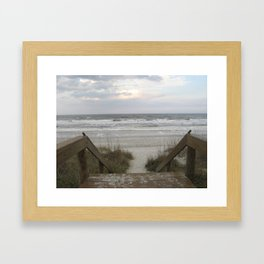 The Beach Beckons Framed Art Print