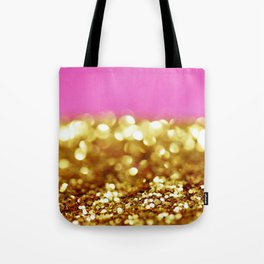Pink & Gold Glitter Tote Bag