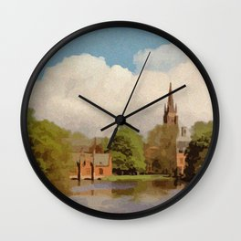 The Lake of Love Bruges art Wall Clock