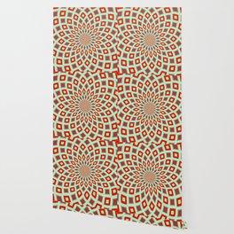 Red And Green Hallucinogenic Kaleidoscope Wallpaper