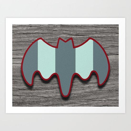 Arctic Bat Art Print
