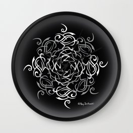 Namaste Mandala Glow - Black White Wall Clock