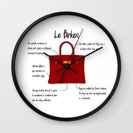 Anatomy of a Birkin Bag Wall Clock