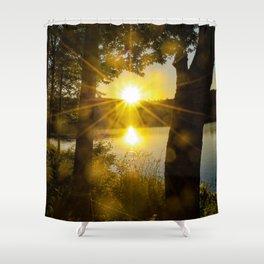 Sunset Flare Shower Curtain