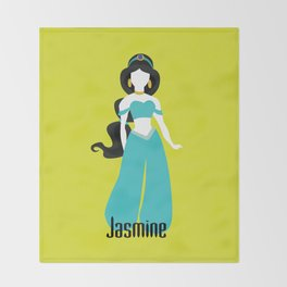 Jasmine from Aladdin Disney Princess Throw Blanket
